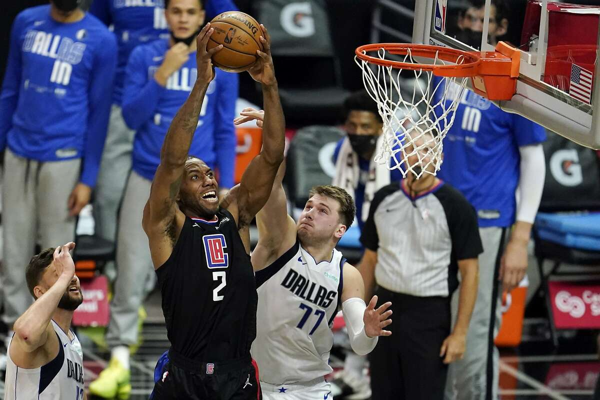 Kawhi Leonard, dunking on Luka Doncic in Game 2 of the teams' playoff series, willed the Clippers to a win in Game 6.