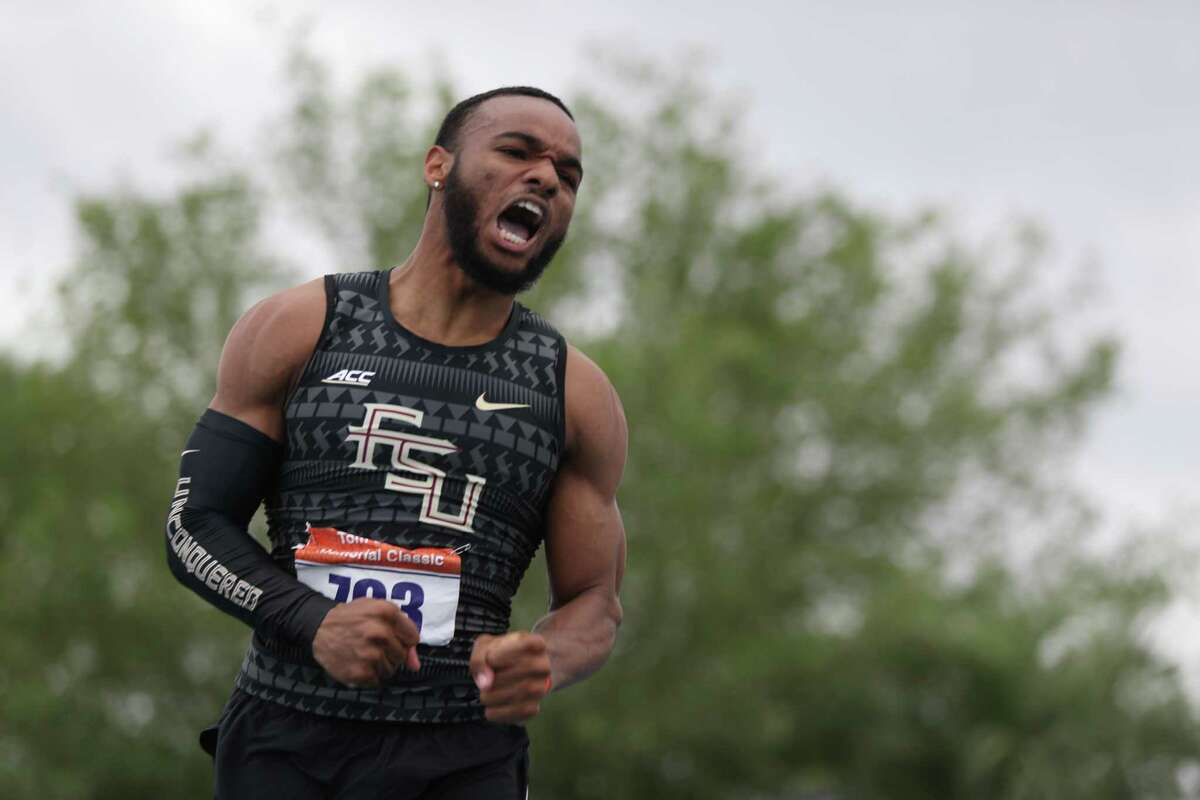 Florida State sprinter and Conroe High School alum Jo'Vaughn Martin is seen during the Tom Jones Invitational in Florida.