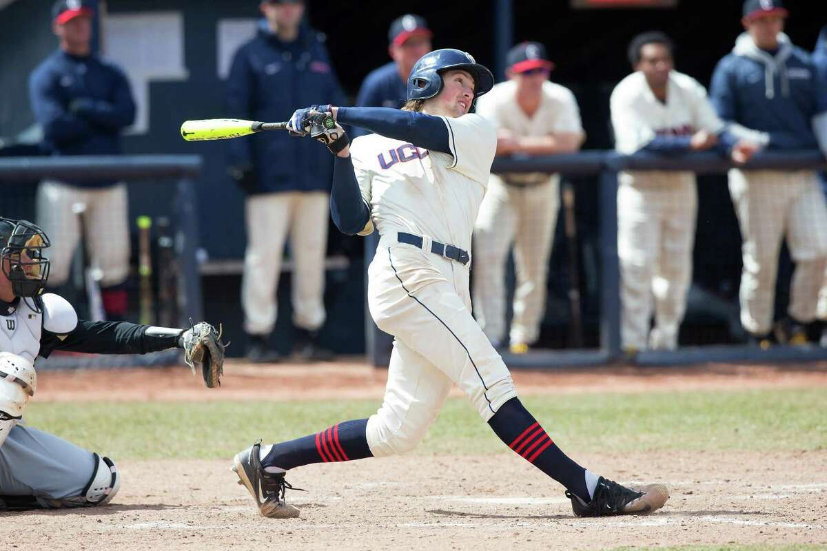 UConn baseball players Chris, pictured, and Patrick Winkel, are the co-winners of the 2021 William J. Chirgotis Most Outstanding Collegiate Athlete Award.