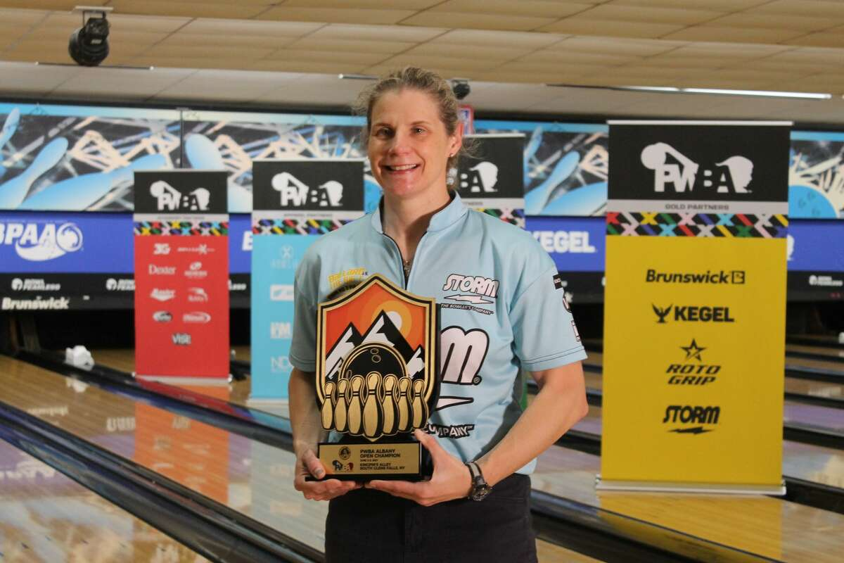 Kelly Kulick of Union, N.J., winner of the 2021 PWBA Albany Open at Kingpin's Alley in South Glens Falls. (Kurtis von Krueger/PWBA)