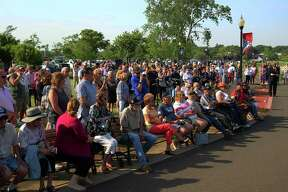 A dedication ceremony was held for the 13th phase of the brick Veterans Walk of Honor at Bradley Point Park in West Haven, Conn., on Saturday June 5, 2021.