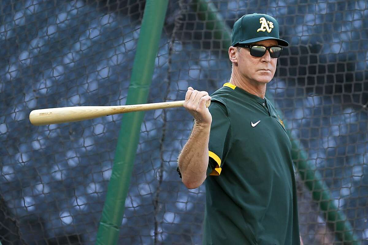 SEATTLE, WASHINGTON - JUNE 02: Manager Bob Melvin of the Oakland Athletics looks on before the game against the Seattle Mariners during Lou Gehrig Day at T-Mobile Park on June 02, 2021 in Seattle, Washington. (Photo by Steph Chambers/Getty Images)