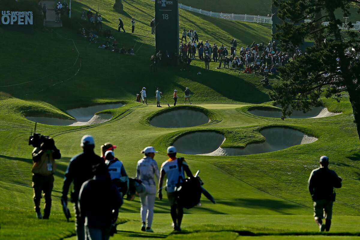 No. 18 on the Lake Course at the Olympic Club provides plenty of challenges for golfers. The average score for players in the U.S. Women's Open on the par-4 hole this week is 4.34.