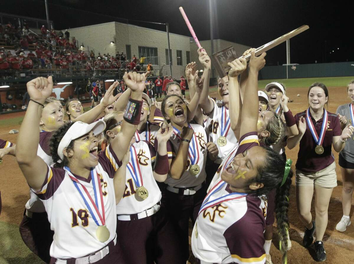 Deer Park celebrates after defeating Judson 1-0 to win the Class 6A UIL state championship at Red & Charline McCombs Field, Saturday, June 5, 2021, in Austin.
