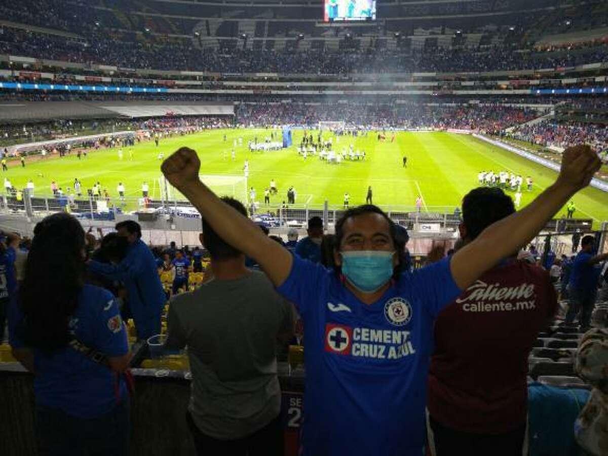 Nuevo Laredoan Gilberto Galindo attended Cruz Azul's championship win last Sunday.