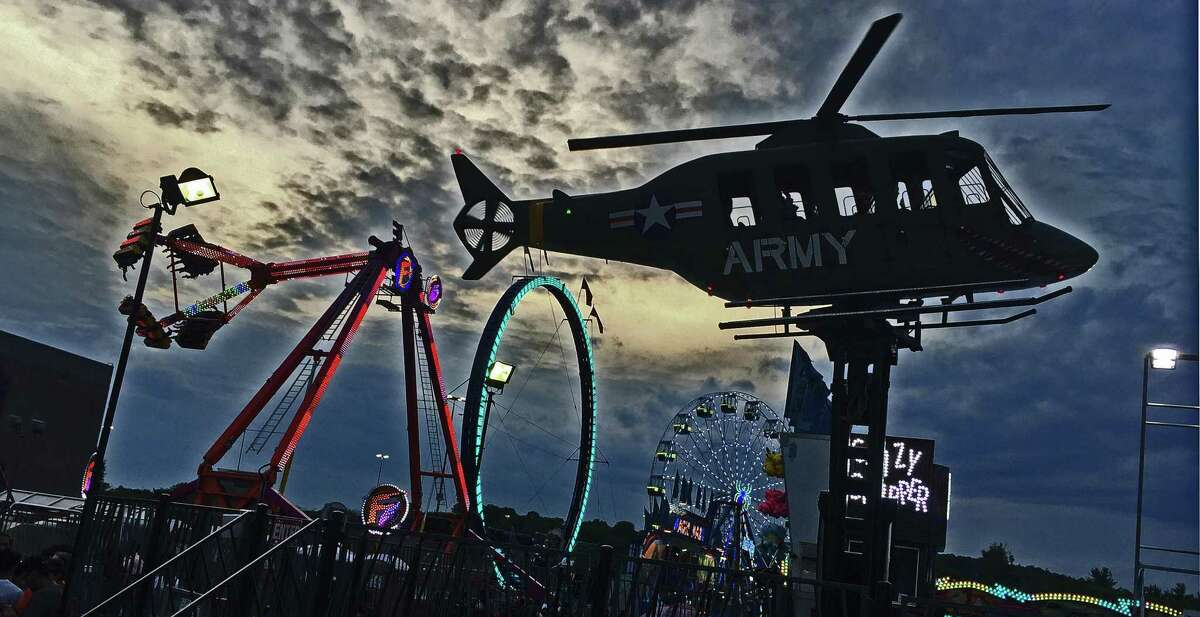 The Powers Great American Midway at the Danbury Fair mall in June 2021.