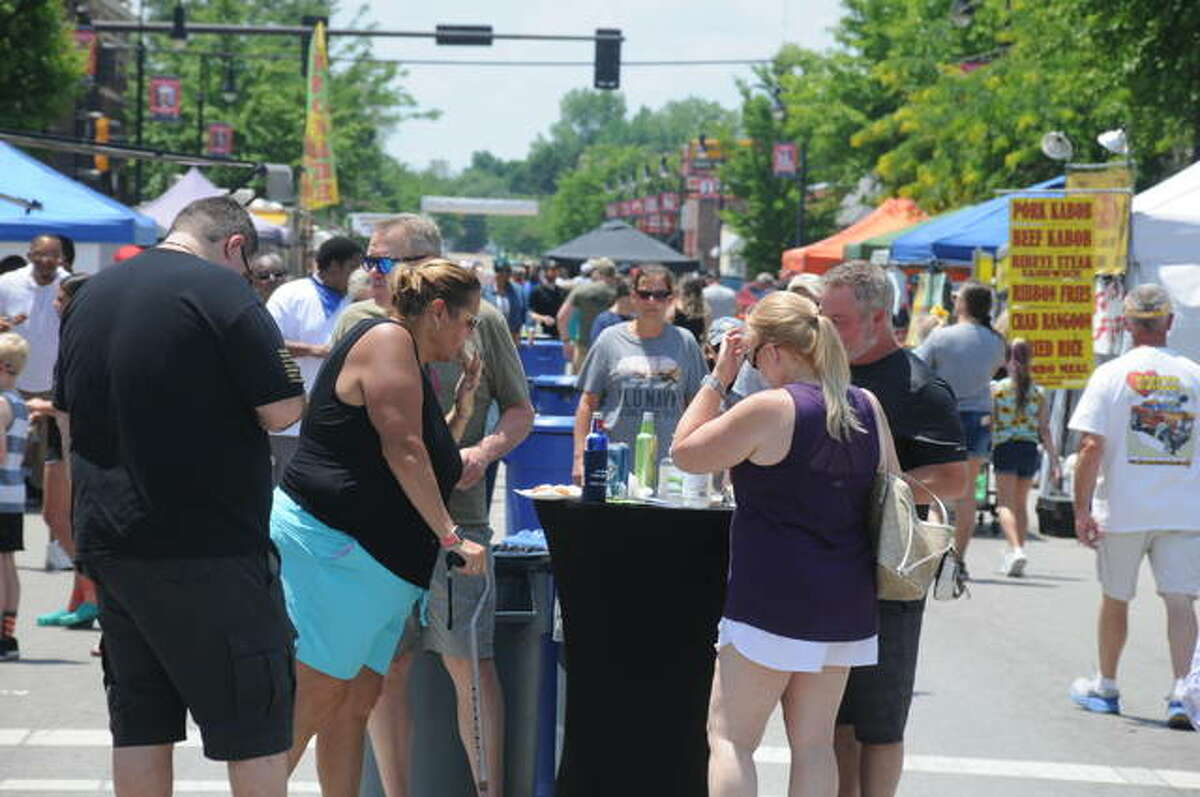 A large crowd packed downtown Collinsville Saturday for the 34th Annual International Horseradish Festival.