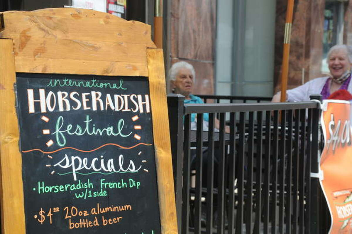 Downtown Collinsville eating establishments featured appropriate fare for the Horseradish Festival Saturday.