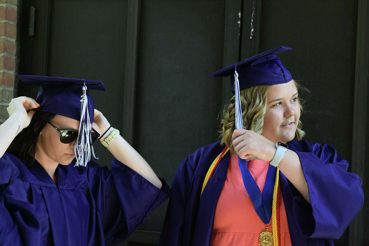 Routt Catholic High School students take part June 6 in the high school's commencement.