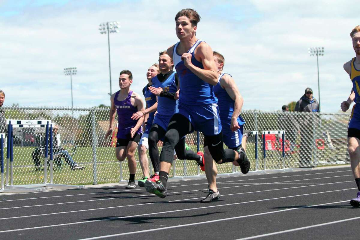 Manistee Catholic Central's Mateo Barnett placed fourth in the 400-meter dash on Saturday at the Division 4 state finals in Hudsonville, earning the senior All-State honors. (News Advocate file photo)