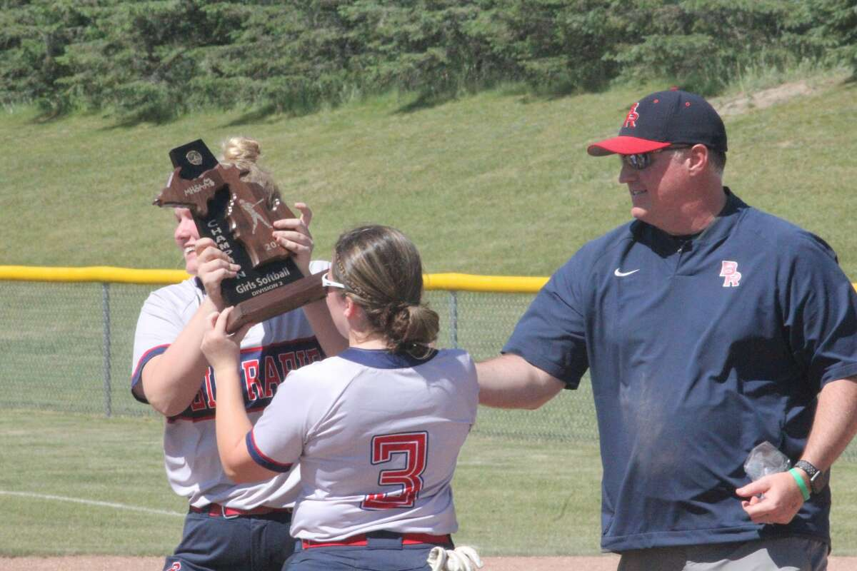 Big Rapids' softball team defeated Tri County and Alma for the district title on Saturday.