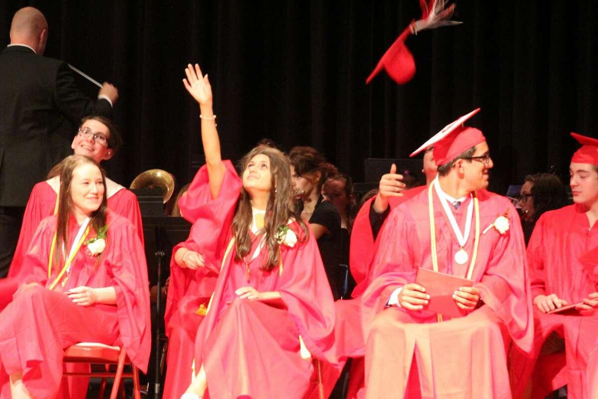 Caseville High School's 2021 graduation class receive their diplomas.