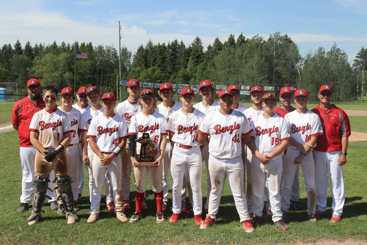 Benzie Central wins a district championship in baseball while competing on on June 5 at Manton.
