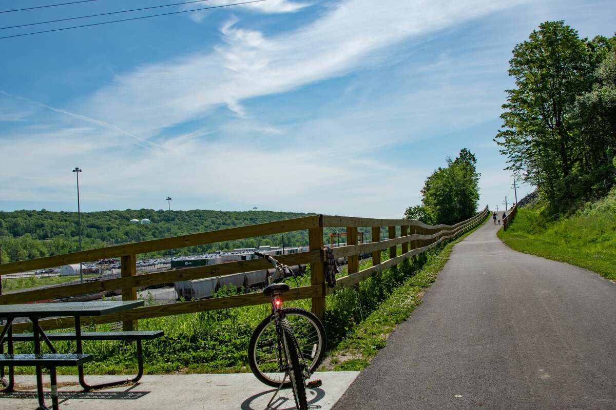 Letter writer says, 'It was great to see the Times Union publish its 'Special Cycling Issue' June 13. Cycling has added so much to my own quality of life, and it's gratifying to see riders like Joyce Bassett bringing out and rehabilitating bikes so her family can enjoy the newly extended Zim Smith Trail from Mechanicville to Ballston Spa.' (Joyce Bassett / Times Union)