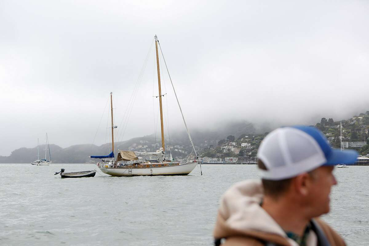 Harbormaster Curtis Havel looks out at live-aboard boats in anchorage in the middle of Richardson Bay in Sausalito.