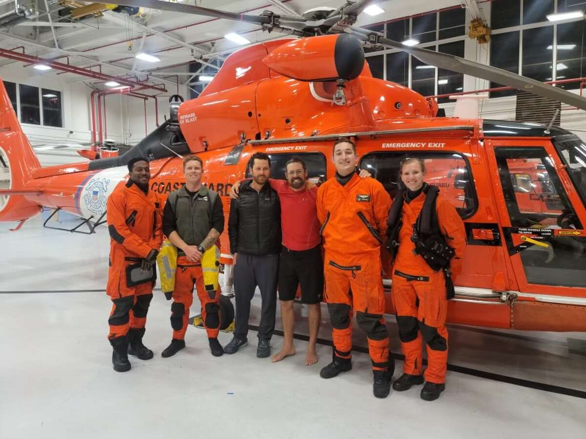 Coast Guard Sector San Francisco watchstanders responded to Derreumaux's request for rescue because of heavy weather, officials said.