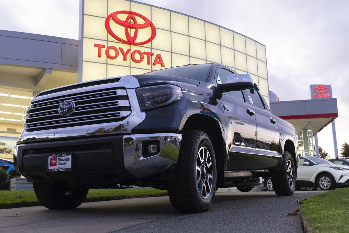 A Toyota Tundra pickup truck is seen at a car dealership in San Jose, California on Tuesday, November 19, 2019.(Photo by Yichuan Cao/NurPhoto via Getty Images)