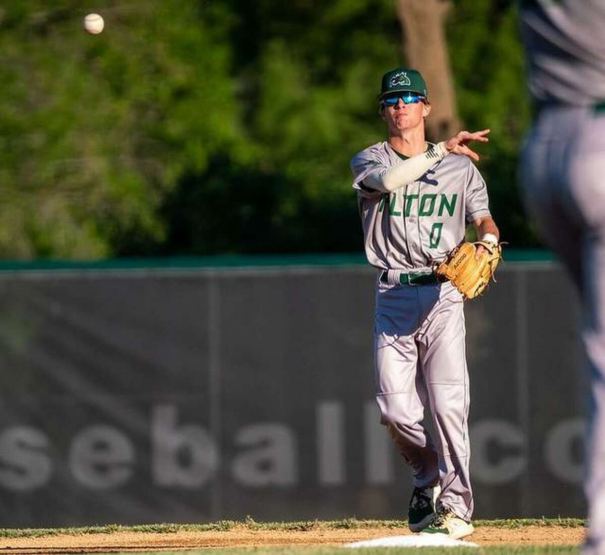 River Dragons second baseman Jake Rivers had a hit, an RBI, a walk and scored a run in Alton's 8-6 victory over the O'Fallon Hoots Sunday Night at CarShield Field in O'Fallon, Mo.