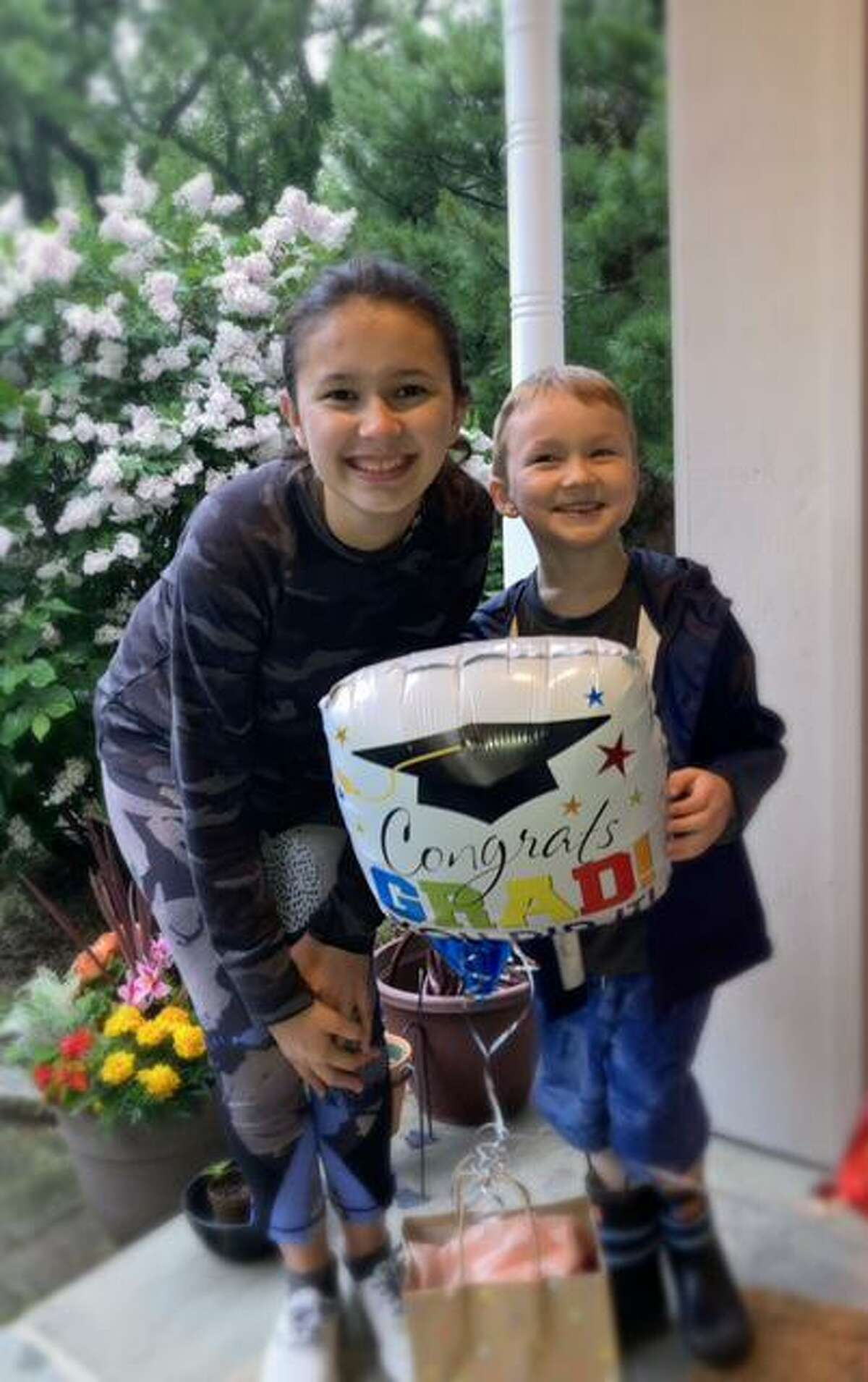 The Biolsi family gave special gifts for Darien High senior Charlotte deWeaver.
