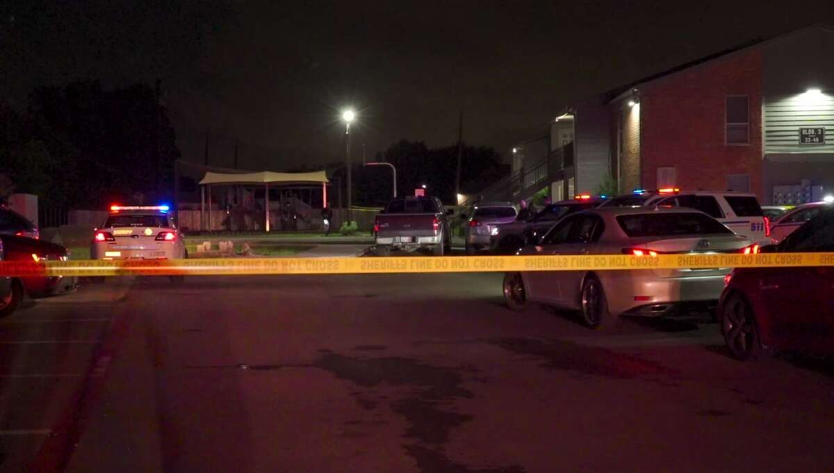 A woman was in critical condition Sunday night after a man allegedly shot her at a Houston-area crawfish boil, officials said.