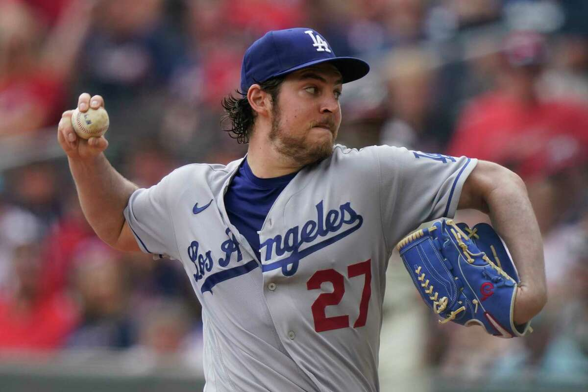 The Dodgers' Trevor Bauer didn't have his usual high-spin fastball in a loss to the Braves on Sunday. That dip in spin rate came just days after Major League Baseball said it would be cracking down on pitchers using foreign substances on the baseball.