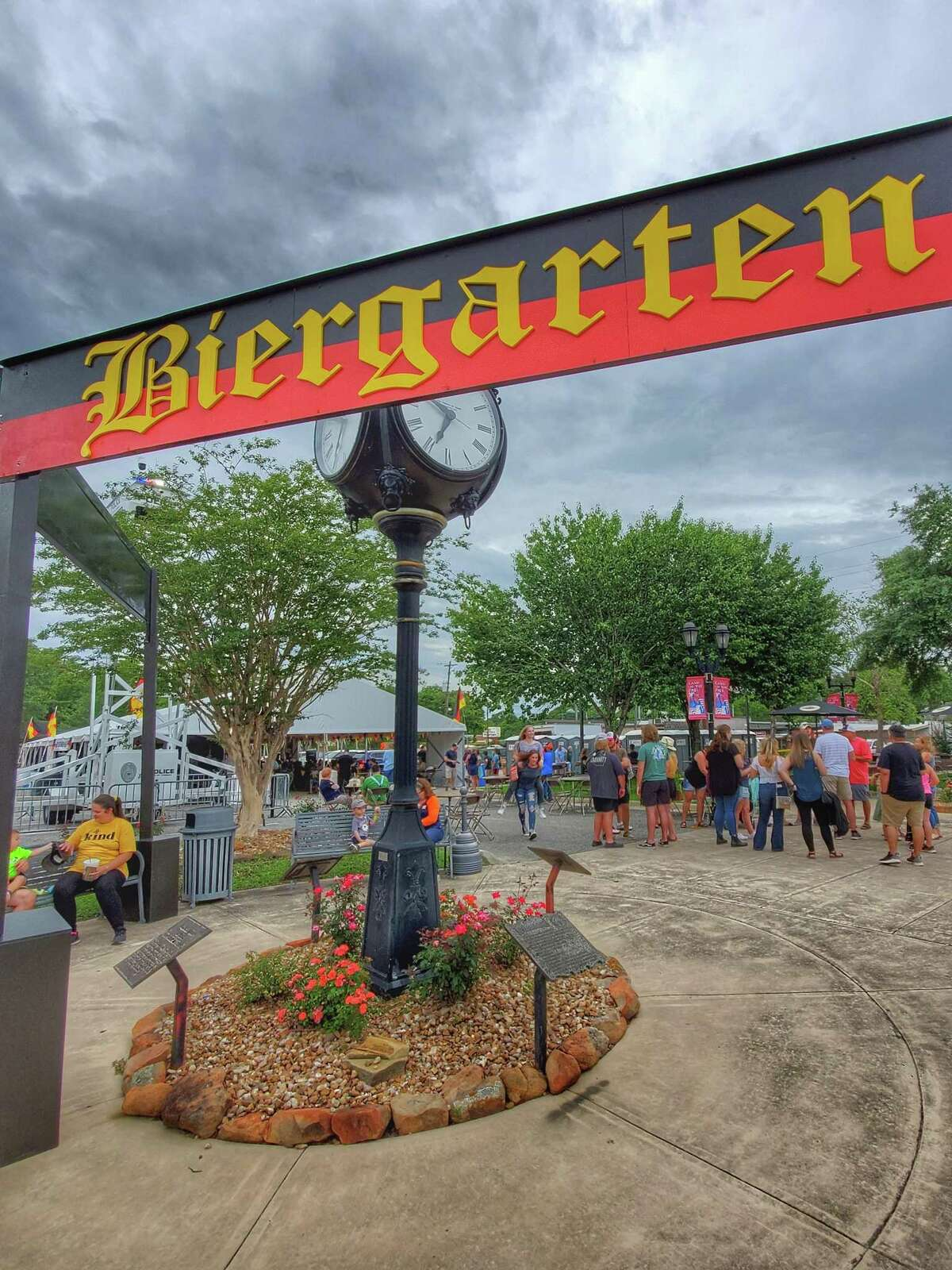 Guests enjoy food and festivities Friday, June 4, during the German Heritage Festival in Tomball.