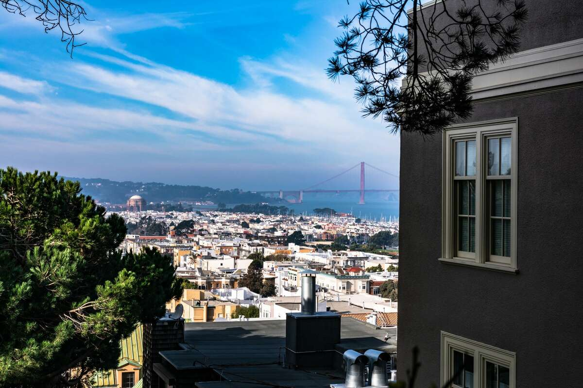 Aerial view of San Francisco from Chestnut Street, California