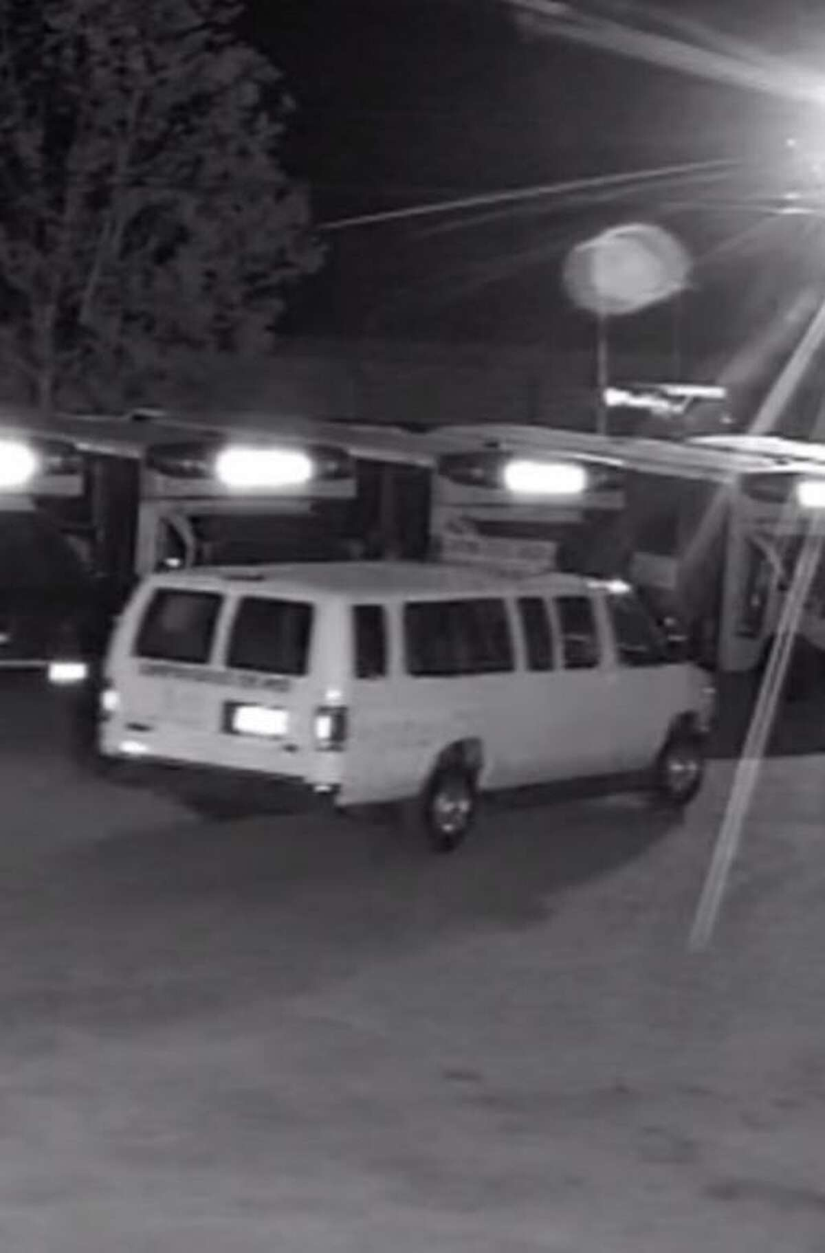New Milford police say this vehicle was used by two suspects who stole 11 catalytic converters from vehicles parked at All-Star Transportation on Dodd Road during the early morning hours of June 3, 2021.