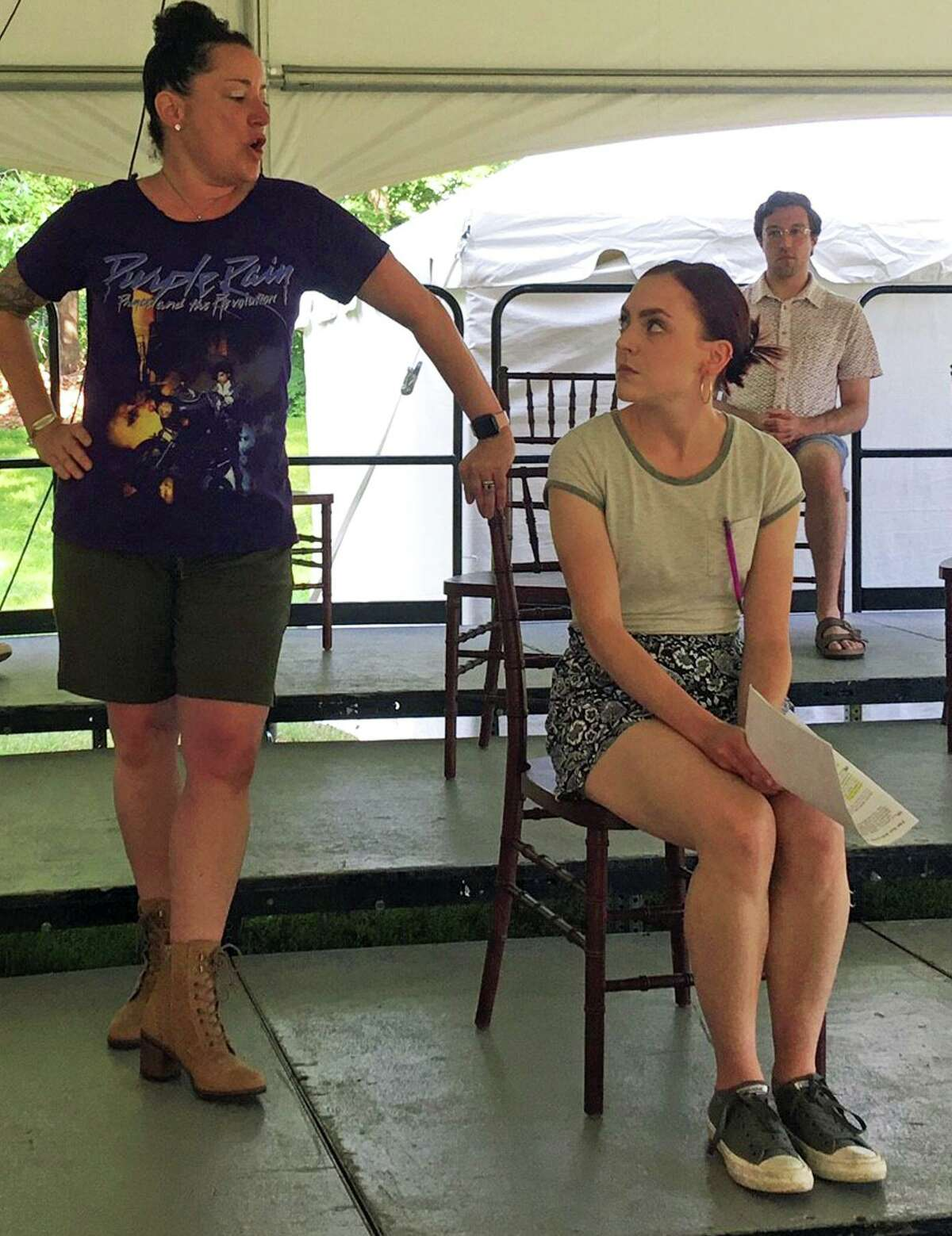Rehearsal for the Madison Lyric Stage production of