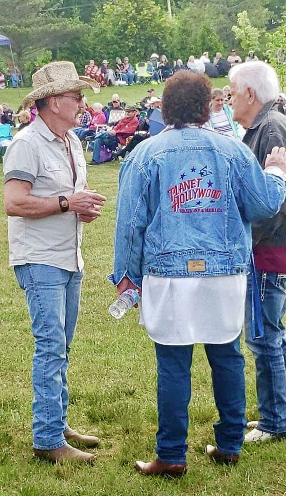 From left, Paul Loomis, Bobby Hoyt and Butch Heath gather at a pastClassic Country Reunion Show in Freeland. (Photo provided)
