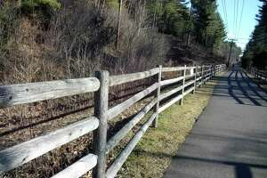 Beardsley Library created a StoryWalk on the Sue Grossman Still River Greenway, just past the bridge on the Winsted end of the trail. Pages from a children's book are attached to railings along the trail. On April 10, library staff will be on the trail from 10:30 a.m. to 12:30 p.m. giving out treats.