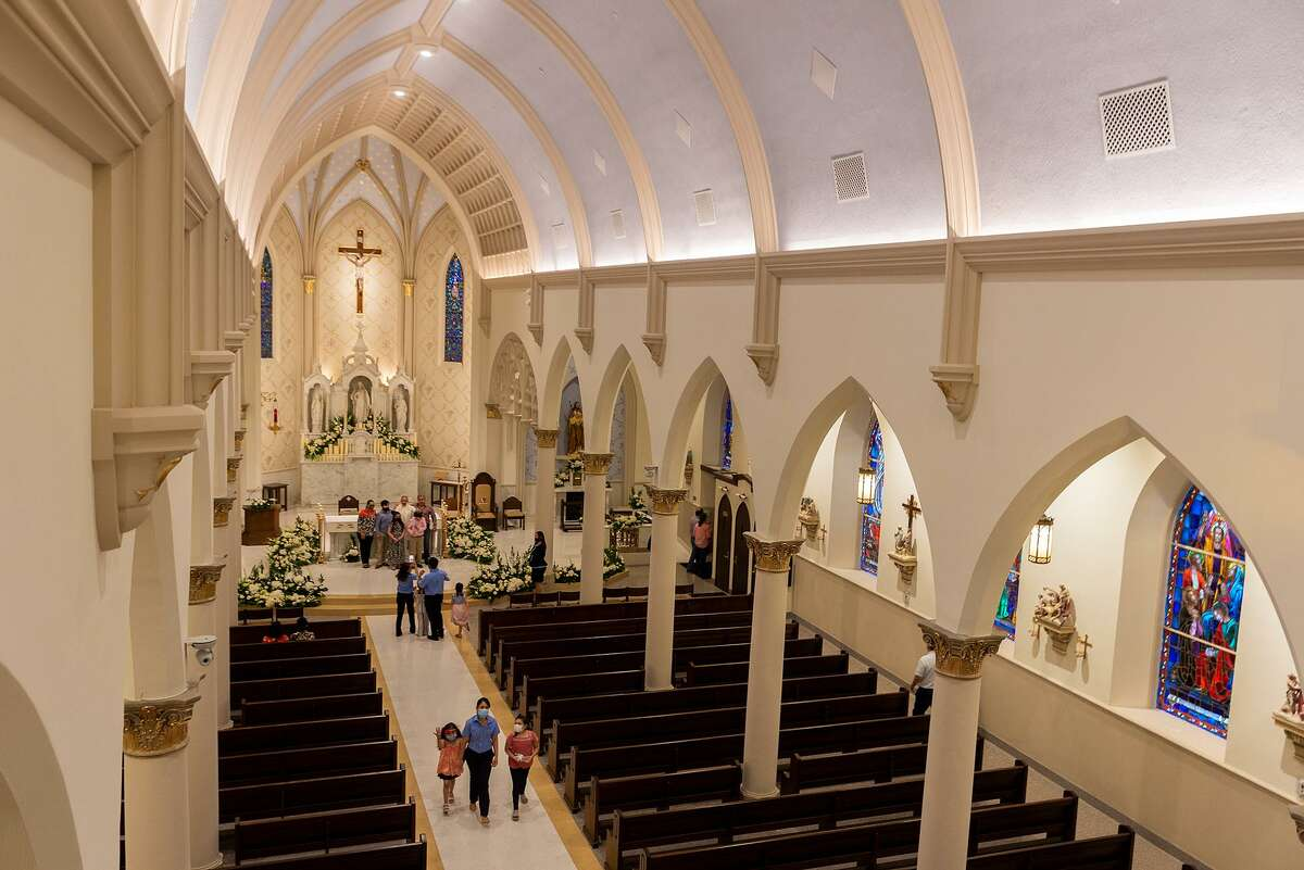 Internal view of the newly renovated San Agustin Cathedral as seen Sunday, June 6, 2021, after a mass.