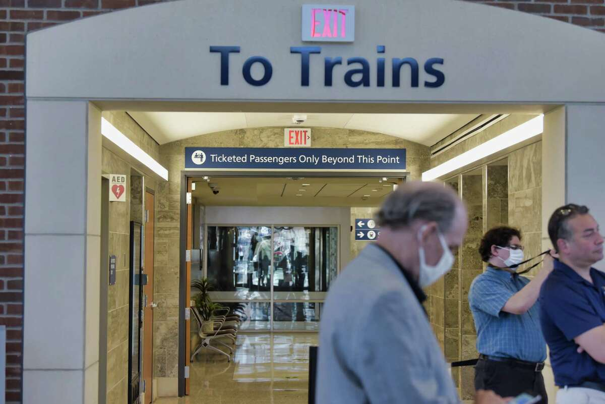 A view of the area leading to the train platform at the Schenectady Train Station on Monday, June 7, 2021, in Schenectady, N.Y. A press conference was held at the station on Monday, calling the State DOT to restore full Amtrak service to Schenectady. (Paul Buckowski/Times Union)