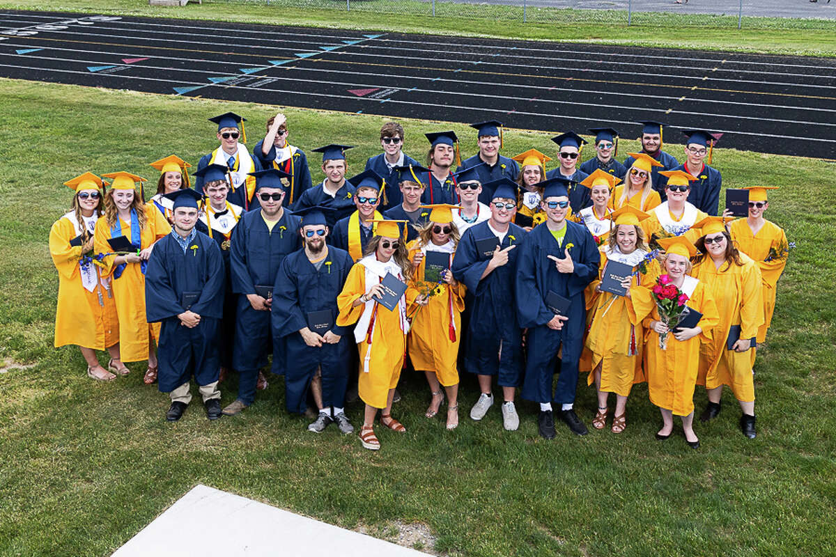 Blue skies and sun helped family, friends and faculty celebrate the graduating class of 2021 at North Huron Schools June 6.