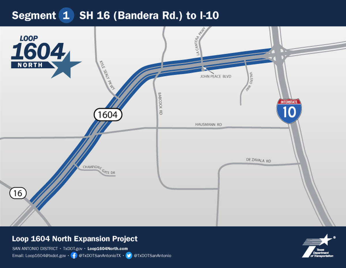 Construction will once again close parts of 1604.