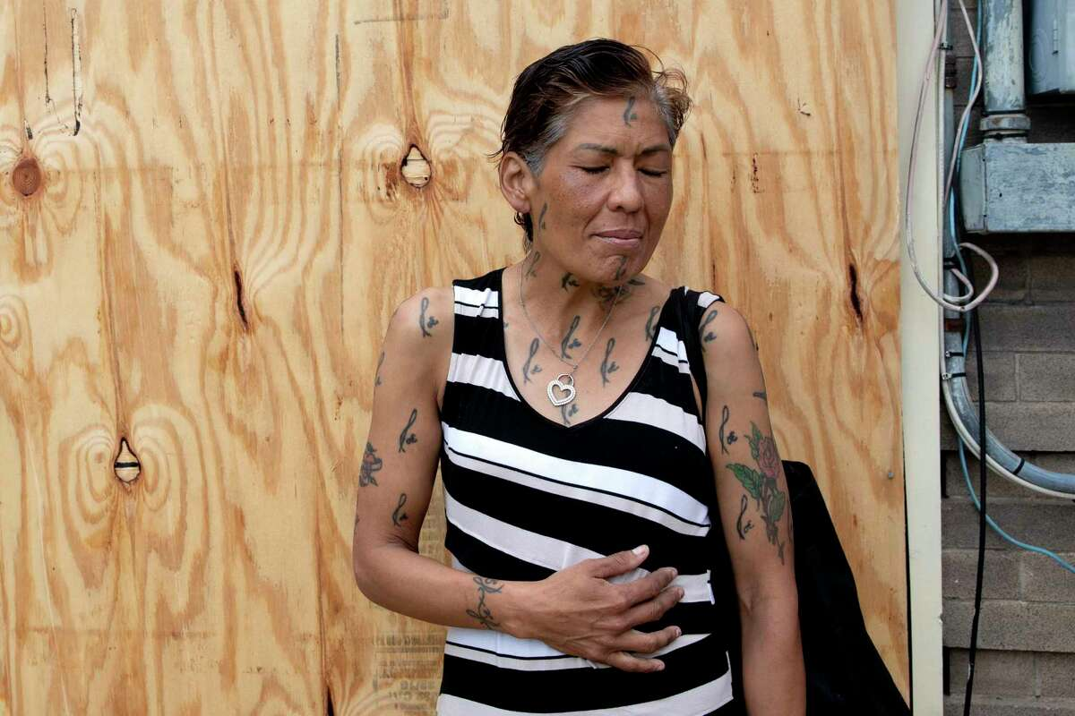 Maria Garcia is living under the I-37 overpass. She is one of many unsheltered people who are opting not to seek help from shelters.