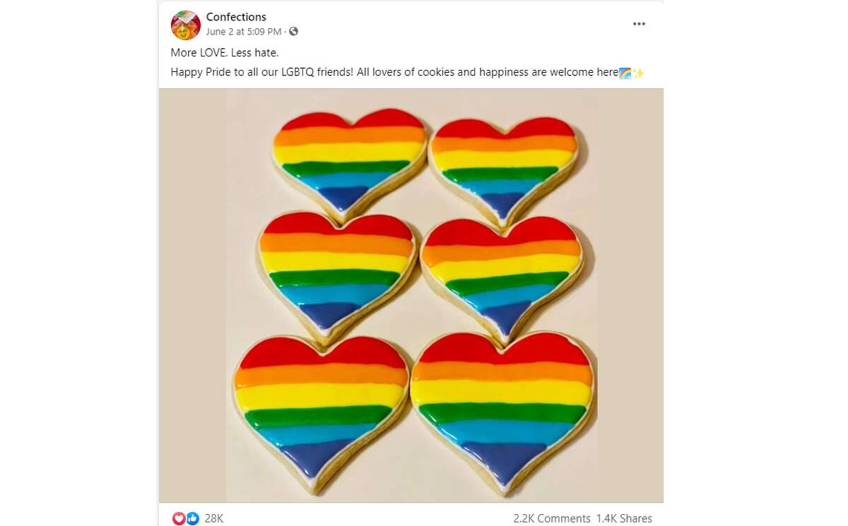 East Texas bakery confections received messages of hate after first releasing their Pride themed cookies. But then the community overwhelmed them with love and support.