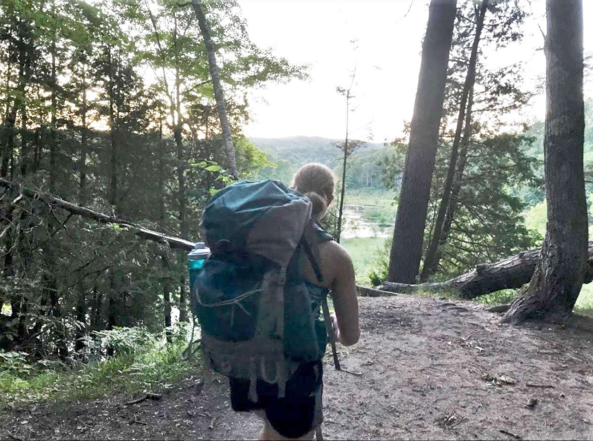 The Manistee River Trail is a great backpacking opportunity with many scenic views.