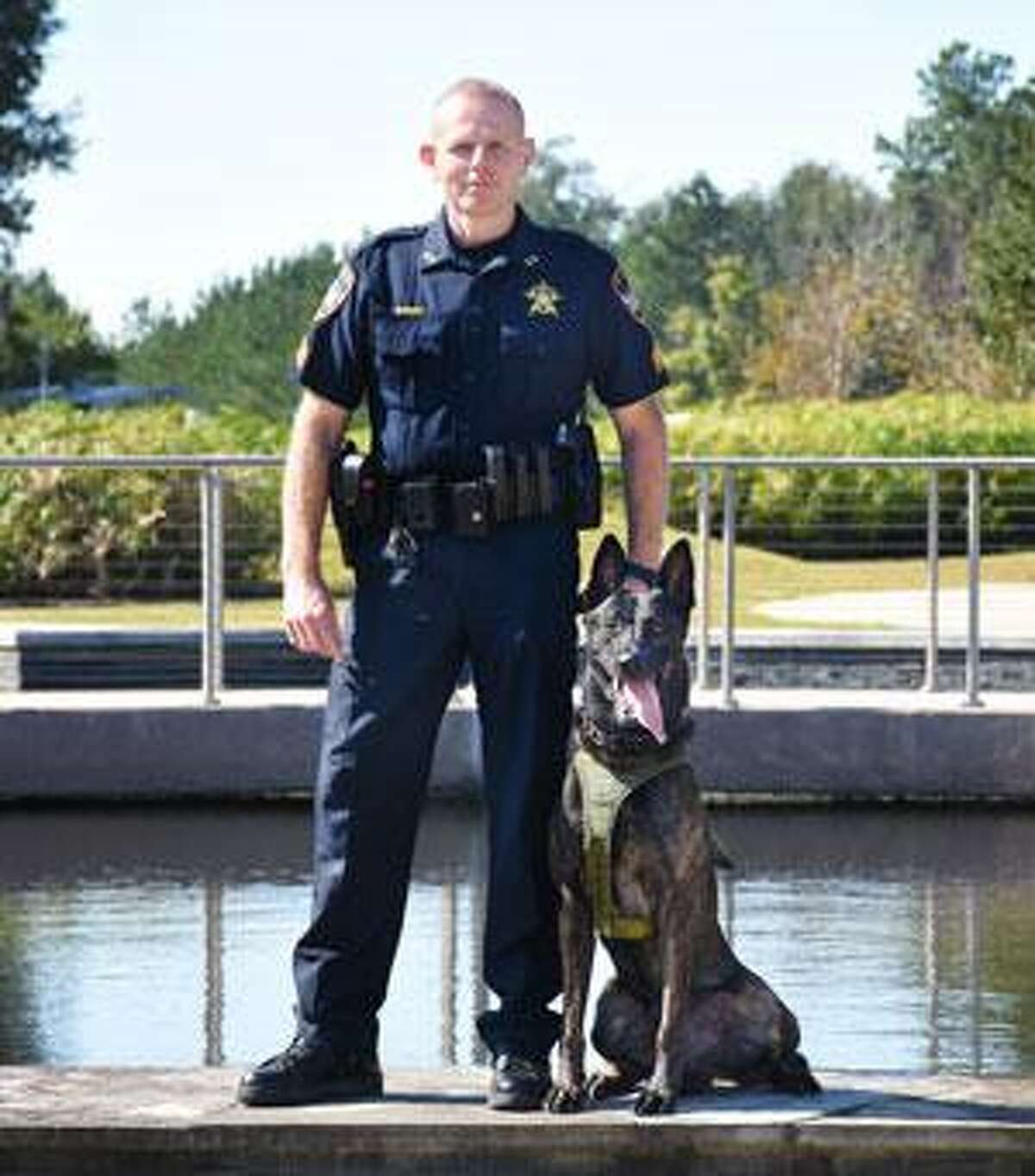 Sgt. David Birch and his canine partner Hummer.