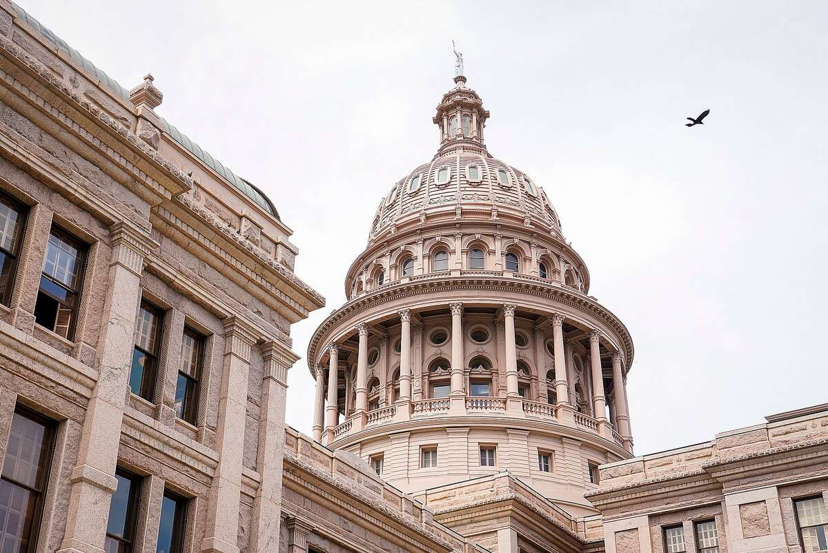 A general view of the Texas Capitol during the 87th Texas legislature on Friday, May 7, 2021, in Austin, Texas. (Smiley N. Pool/The Dallas Morning News)