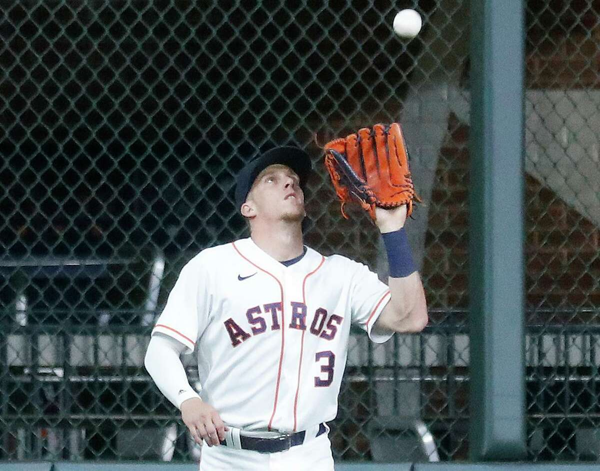 Since making an adjustment in his batting stance, Astros center fielder Myles Straw is an encouraging 4 for 7 at the plate.