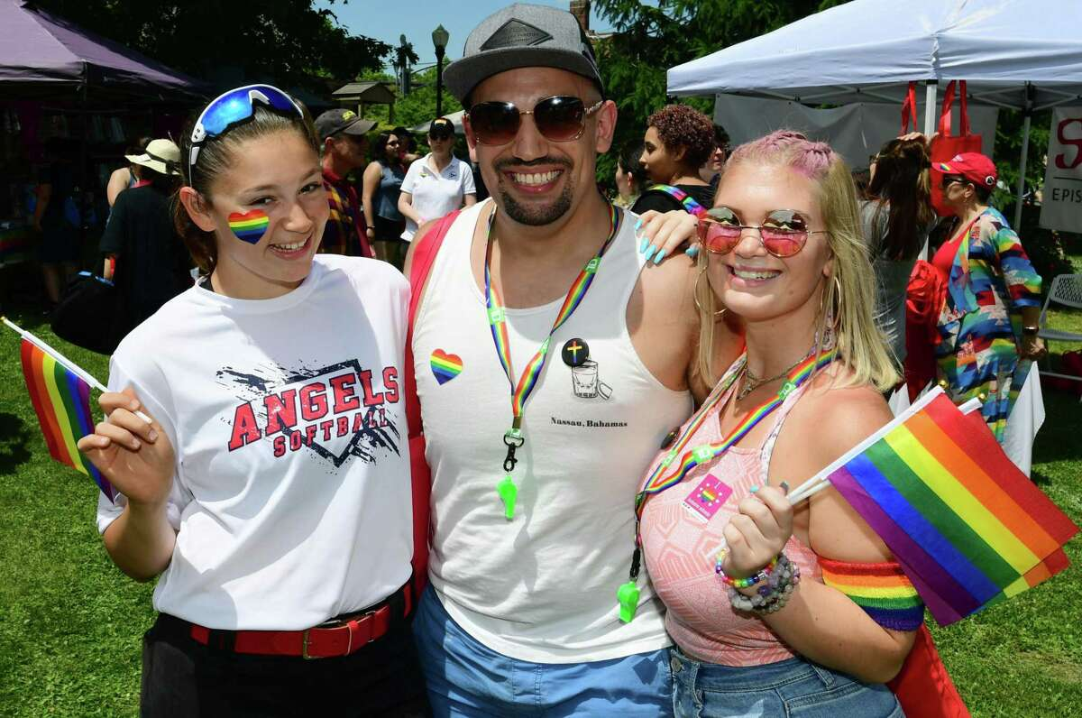 Attendees of Fairfield County Pride's 2019 Pride in the Park event in Norwalk, Conn. The event will not take place this year, but a number of others - including a Pride Women's Music Festival in Danbury - are lined up for this Pride Month.