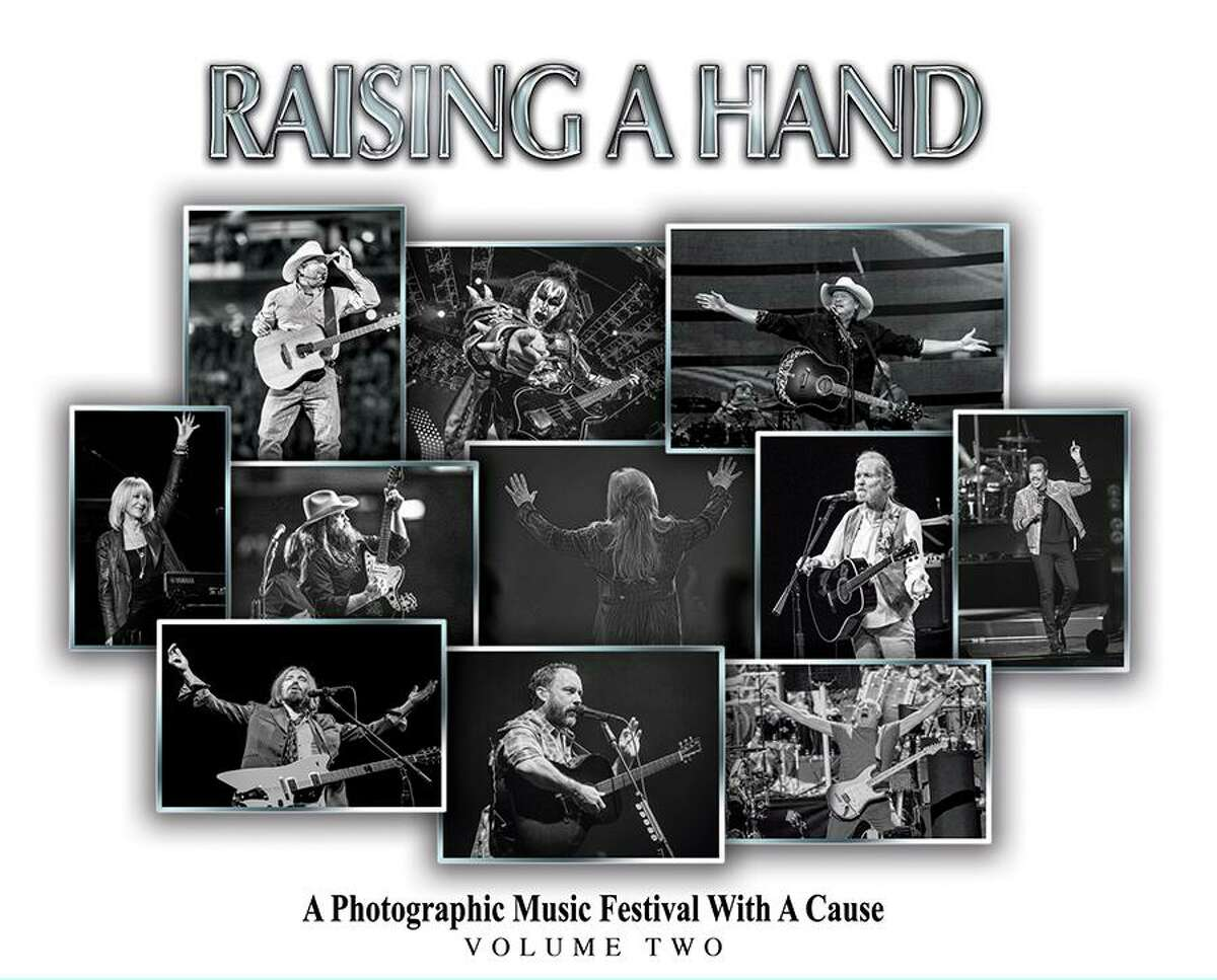 """An image of the cover of """"Raising a Hand for Rett"""" Volume 2. The project is raising funds for Rett syndrome research."""