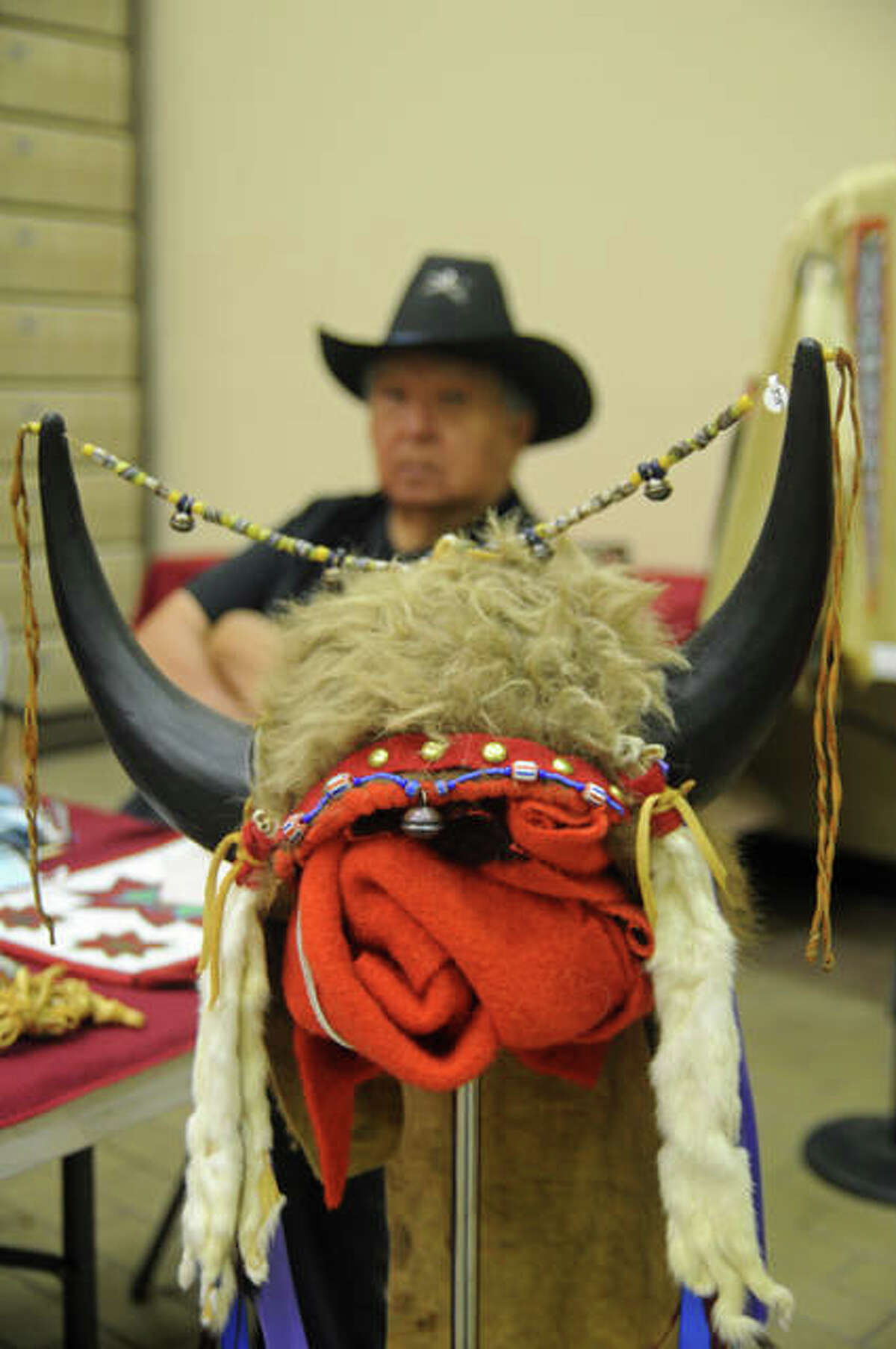 Woody Richards said he learned the traditional ways to create the Native American items he offered at Cahokia Mounds on Saturday.