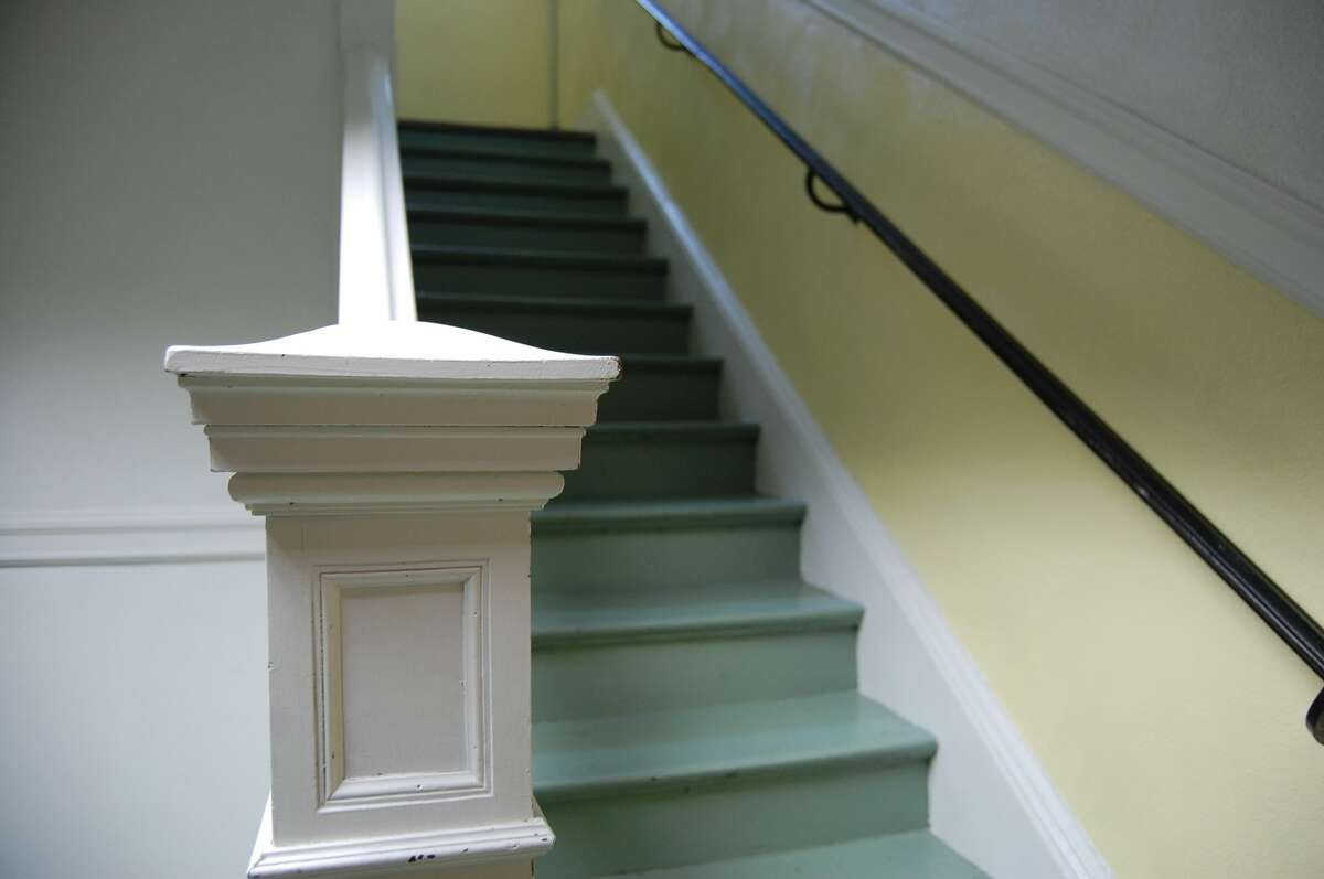 A lot of originality is kept intact. This stairwell boasts very ornate features from years gone by.