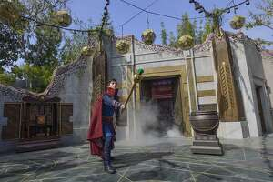 The Doctor Strange show in the Ancient Sanctum at Avengers Campus