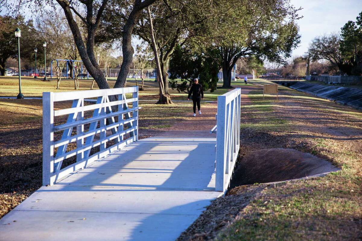 Replacement pedestrian bridges are being constructed at Deer Park's Dow Park.