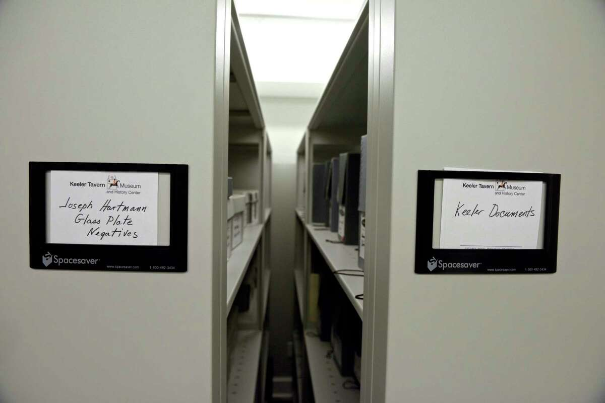 New archival storage space at the Keeler Tavern Museum. The museum is having a grand reopening on Sunday, June 13.