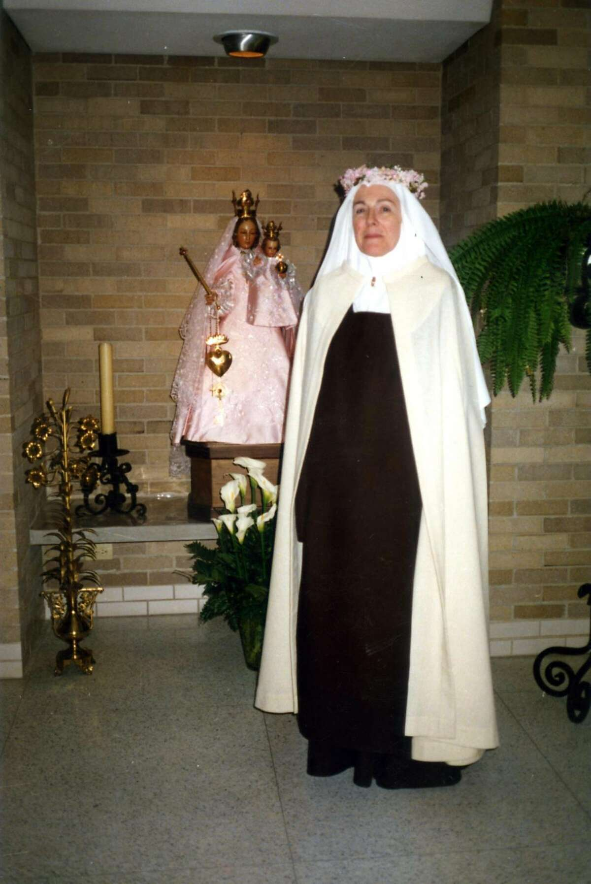 Sister Mary Joseph on the day she became a postulant, 1990.
