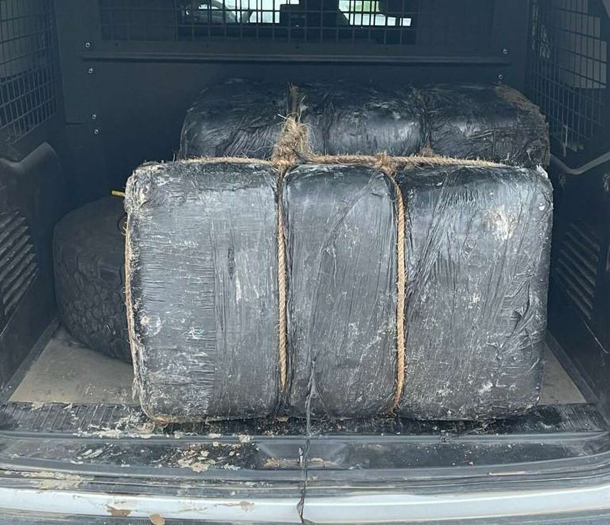 U.S. Border Patrol agents seized these two bundles of marijuana weighing 137 pounds. The contraband had an estimated street value of $110,132.